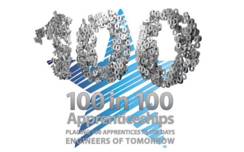 100 in 100 apprenticeships logo