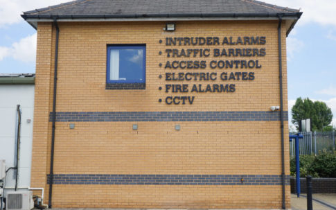 Sign with Burglar Alarm Leeds
