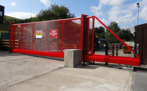 Gate Repair Huddersfield Red Sliding Gate