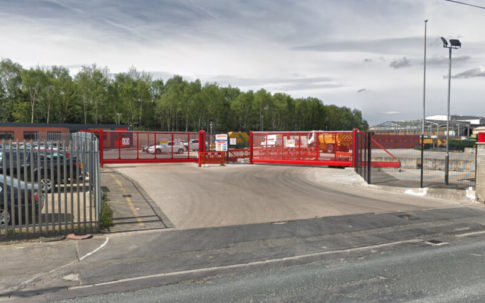 Two Red Automatic Sliding Gates Leeds