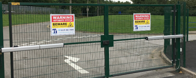 School Gates Entrance and Exit Green